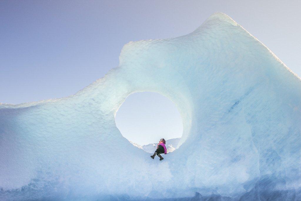 Knik, Knik Glacier, Alaska, Matsu Valley, Matanuska Susitna, Ice hole