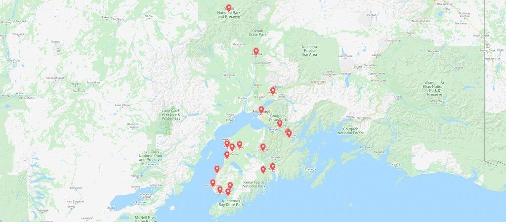 10 day Alaska itinerary map