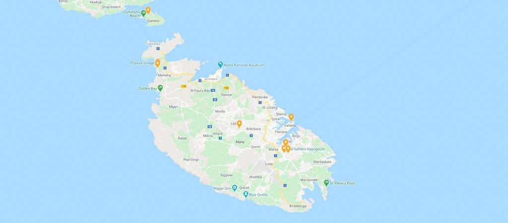 Alternative Malta Map
