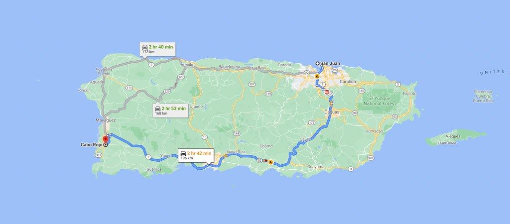Cabo Rojo, Puerto Rico Map