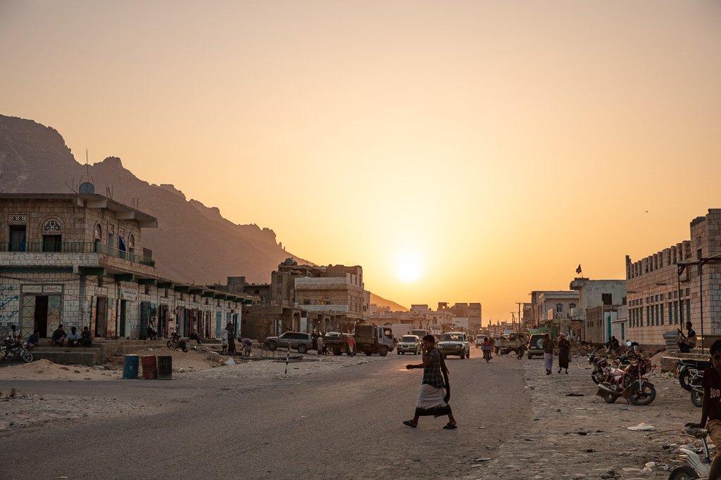 Socotra, Socotra Island, Yemen, Hadiboh, Haggier Mountains, Hadiboh sunset