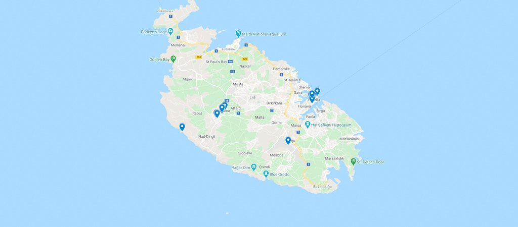 Malta Day 1 Map