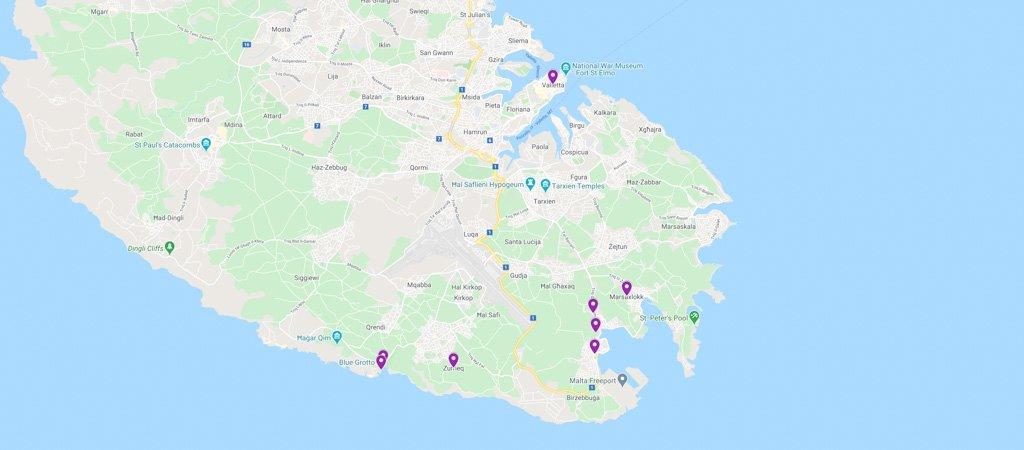 Malta Day 3 Map