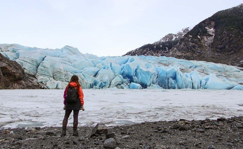 Mendenhall Glacier, Mendenhall Glacier Alaska, Mendenhall glacier girl, Juneau, Juneau Alaska, Alaska