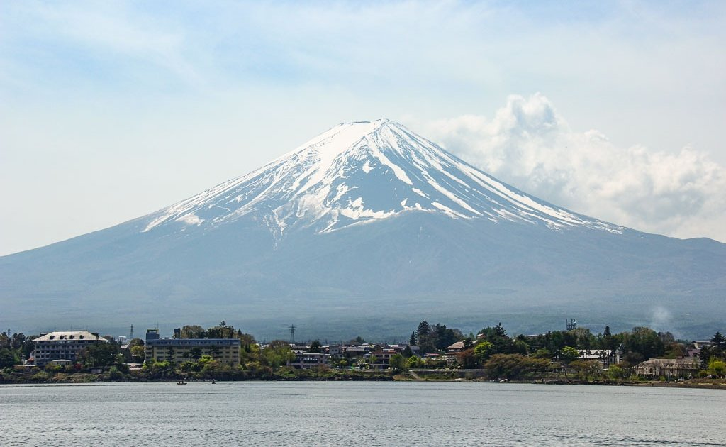 Mount Fuji, Fuji, Kawaguchi, Kawaguchiko, Lake Kawaguchiko, Kawaguchiko Lake, Japan, Tokyo to Kawaguchiko, Asia