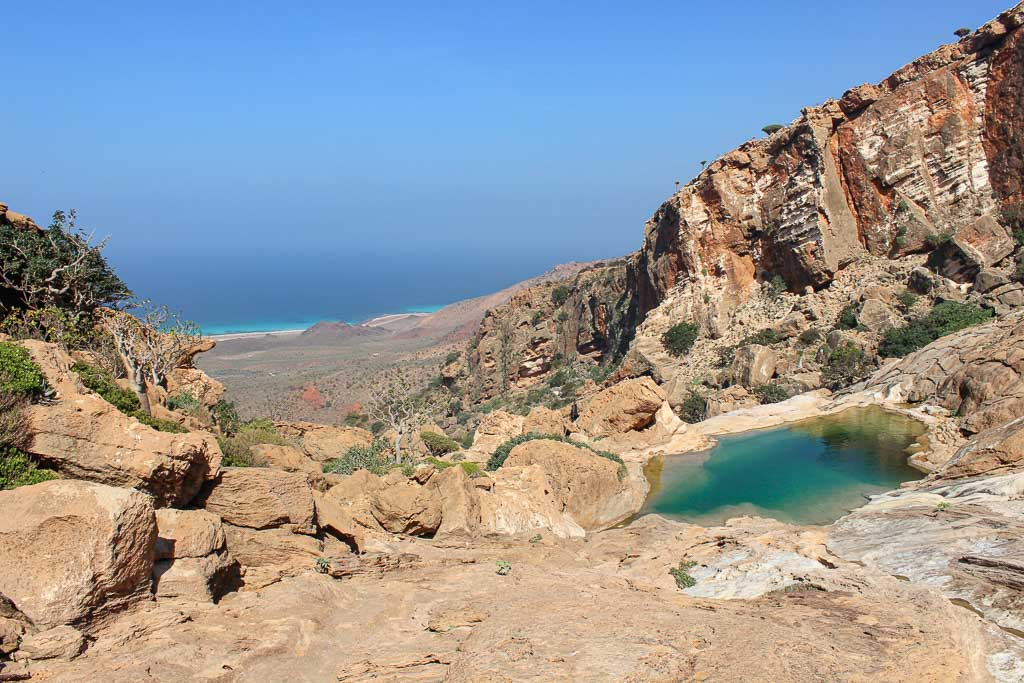 travel in Socotra, Socotra, Socotra Island, Yemen, Socotra Yemen, Socotra Island Yemen, Yemen Island, Yemen islands, Socotra Archipelago, Yemen, homhil, homhil socotra, homhil protected area, natural infinity pool, infinity pool, infinity pool socotra