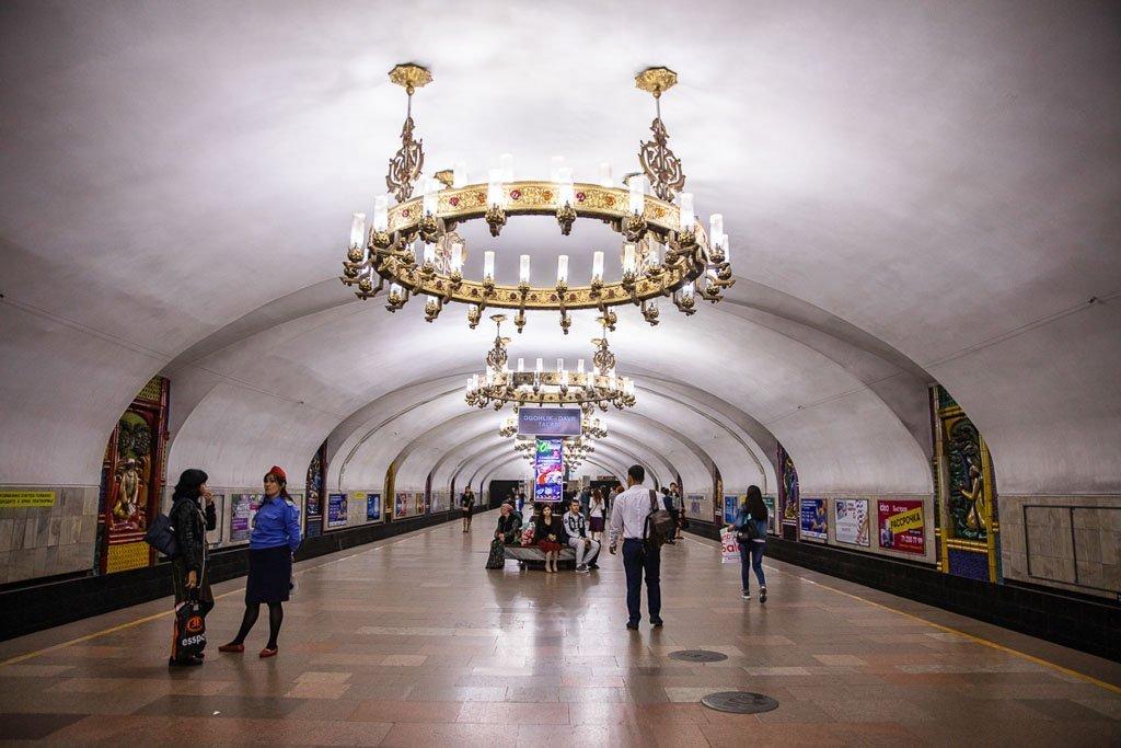 Chilonzor Station Chilonzor, Chilonzor Station, Tashkent Metro, Tashkent, Uzbekistan, Ozbekiston, Central, Asia, metro, subway, Uzbekistan metro, Uzbekistan metro, chandelier