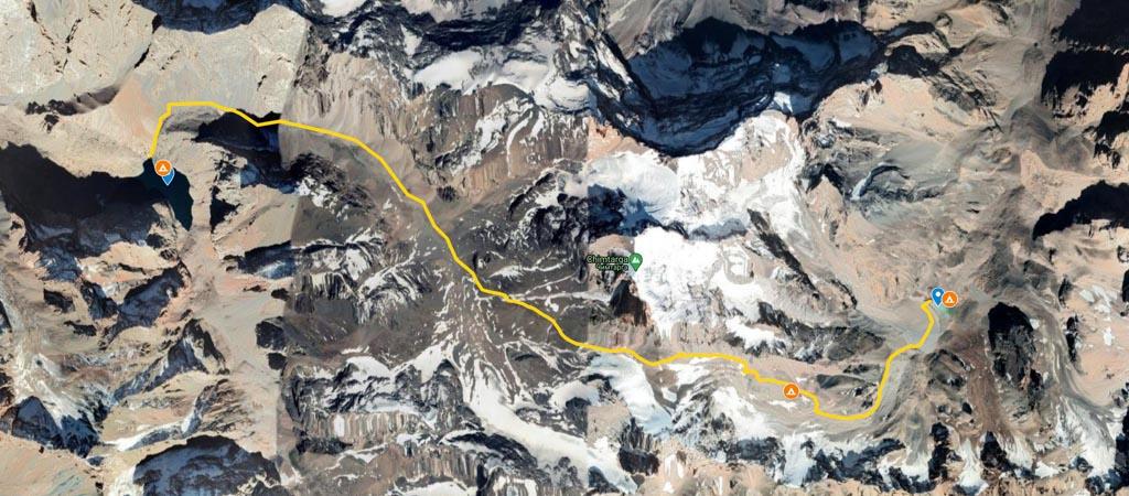 Chimtarga Pass Map