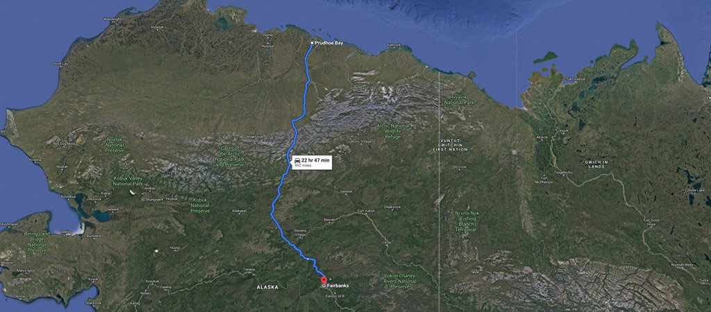 Dalton Highway Road Trip Map