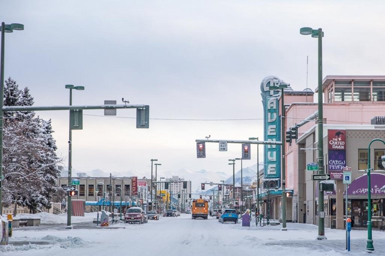 Downtown Anchorage, Anchorage, Alaska, 4h Avenue Theatre, 4th Avenue Theatre Anchorage, 4th Avenue Theatre Alaska