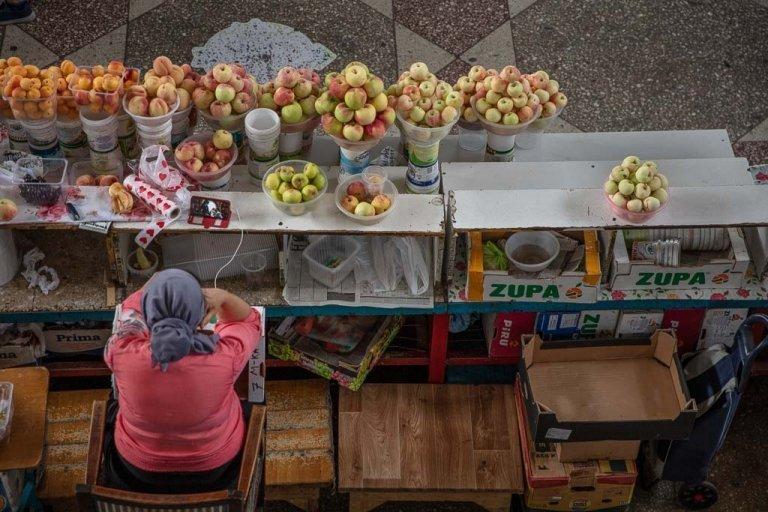 Green Bazaar, Almaty, Kazakhstan, zelony bazaar, green bazaar almaty