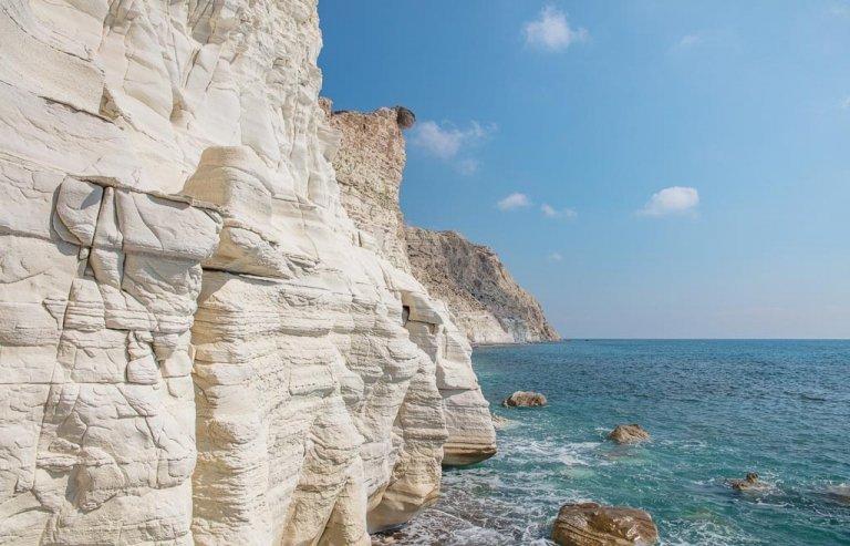 Paphos, Cyprus, gypsum, gypsum cliffs, white cliffs