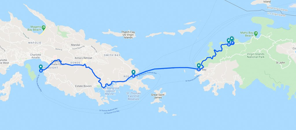 How to get to Trunk Bay Map