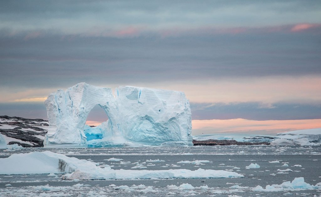 Lemaire Channel, Lemaire, Antarctica, reasons to visit Antarctica, Lemaire Channel Antarctica, Lemaire Antarctica, Antarctic Peninsula, sunset Lemaire channel, sunset antarctica, sunset lemaire channel antarctica, iceberg, iceberg antarctica, iceberg lemaire channel