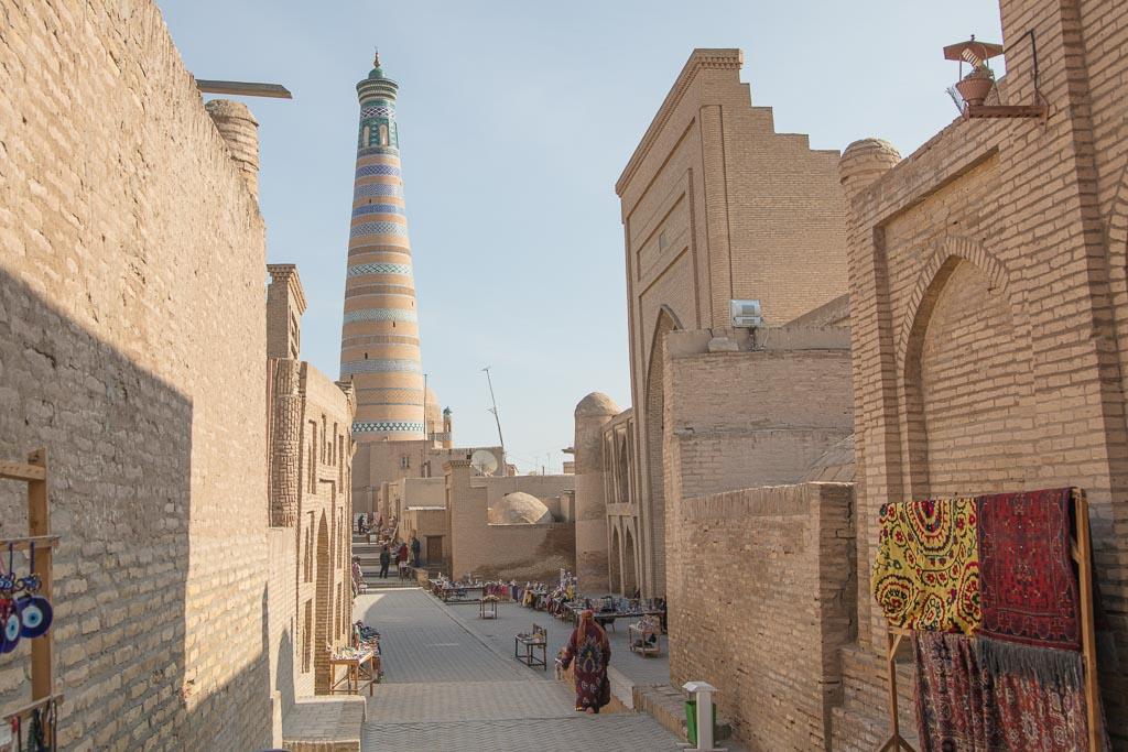Khiva, Itchan Qala, Uzbekistan, Islam Khoja Minaret