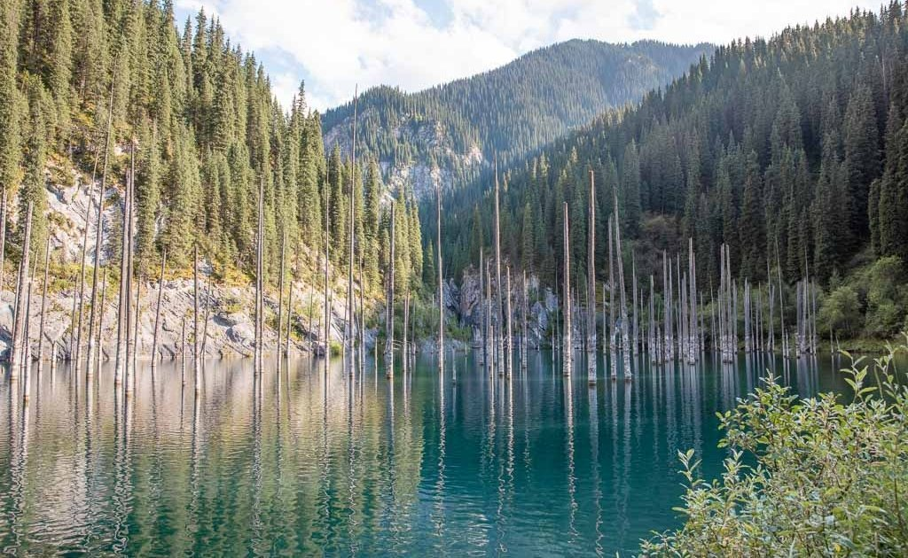 Kaindy Lake, Kaindy, Kazakhstan, Central Asia, Sunken Forest, Kaindy lake, Tien Shan