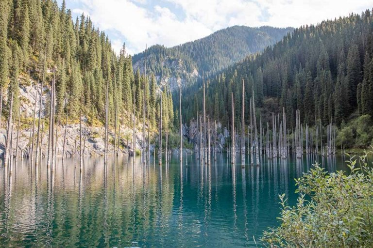 Kaindy Lake, Kaindy, Kazakhstan, Central Asia, Sunken Forest, Kaindy lake, Tien Shan
