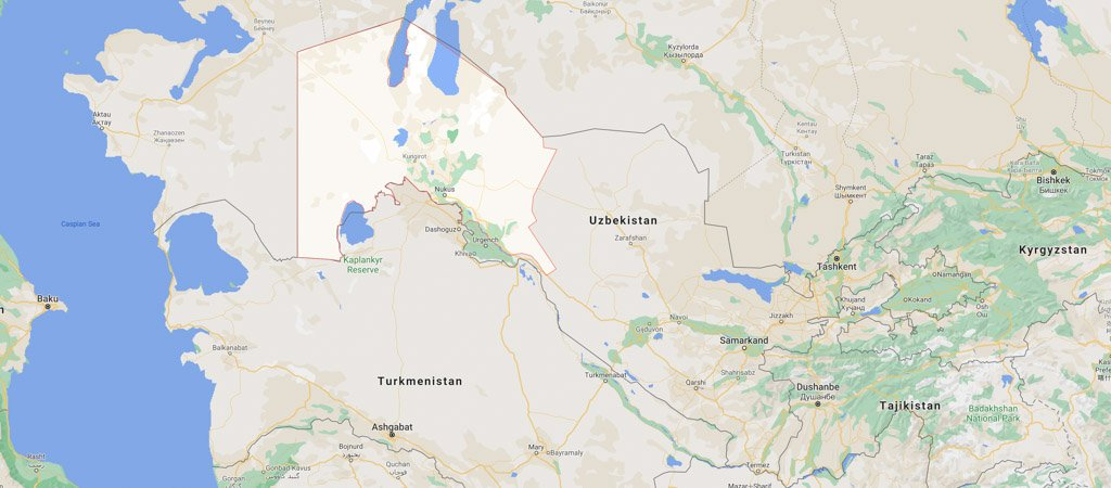 Karakalpakstan Map