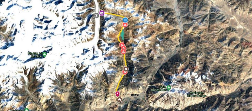 Khafrazdara Hike Map