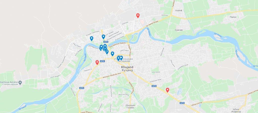 Khujand Map