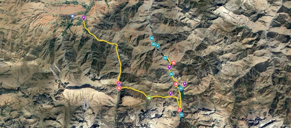 Mogiyon to Haft Kul Map-2