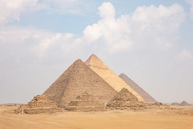 Giza Pyramids, Giza Pyramid Complex, Cairo, Egypt, Sahara, Sahara Desert, North Africa, Africa