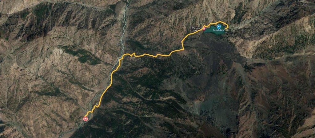 Timur Dara Hike Map