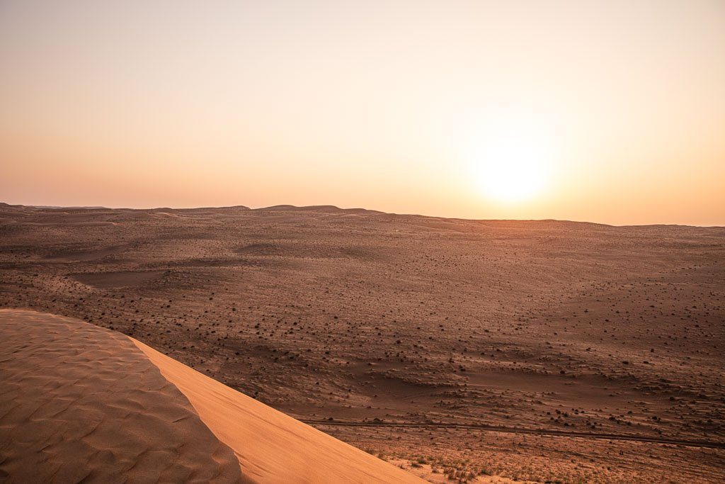Sunset, Sunset in Wahiba Sands, Wahiba, Wahiba Sands, Sharqiya, Sharqiya Sands, Omani Desert, Sand Dunes, Sand Dune, Oman, Middle East, Arabia, Arabian Peninsula