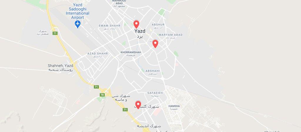 Yazd Day 2 Map