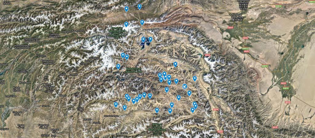 Eastern Pamir Map
