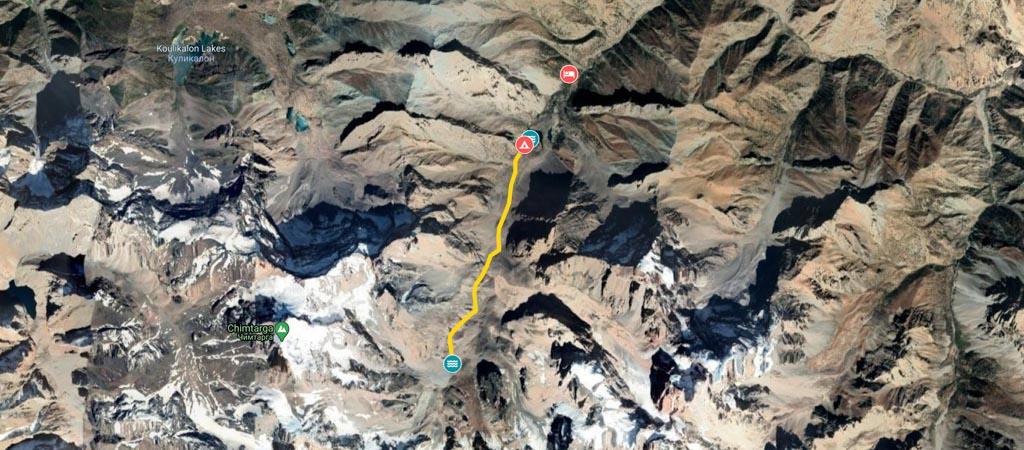 Mutnyi Day Hike Map