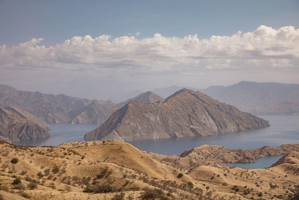 Nurak reservoir, Tajikistan, Pamir Highway, Nurek