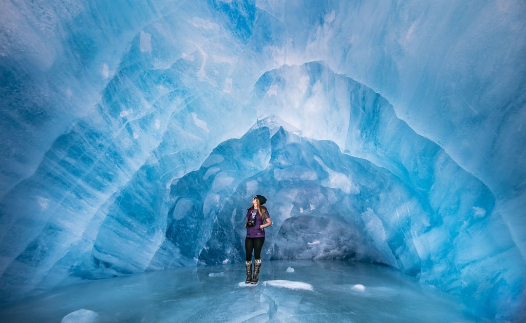 10 reasons to visit alaska, Spencer Glacier, Ice Cave, Alaska, Spencer Glacier Ice Cave, Glcier, Blue, Ice, Ice Caving, Paid Travel Blogger