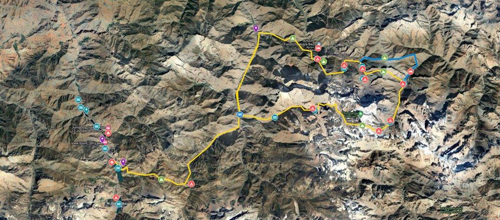 Fann Mountains Highlights Map