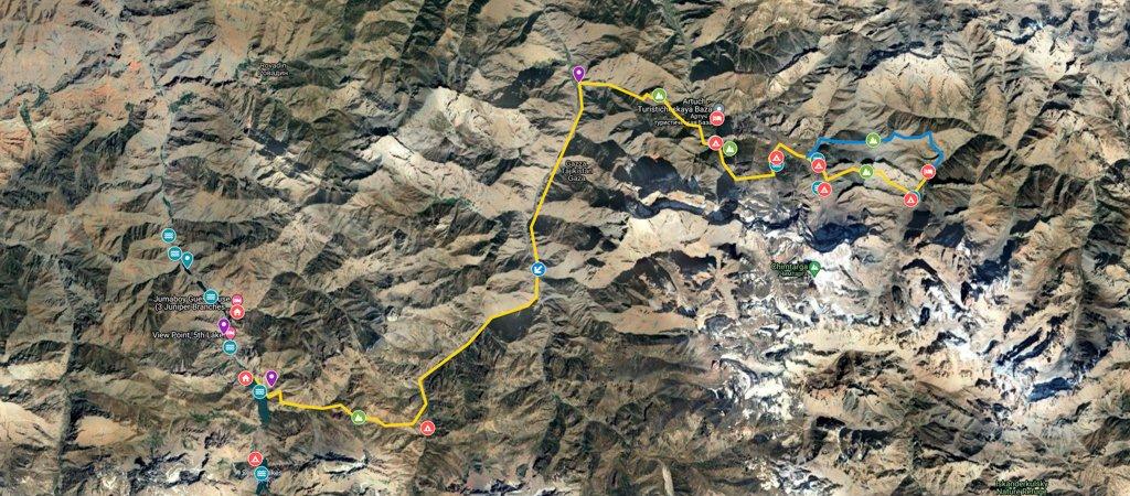 Haft Kul to the Lakes Loop Map
