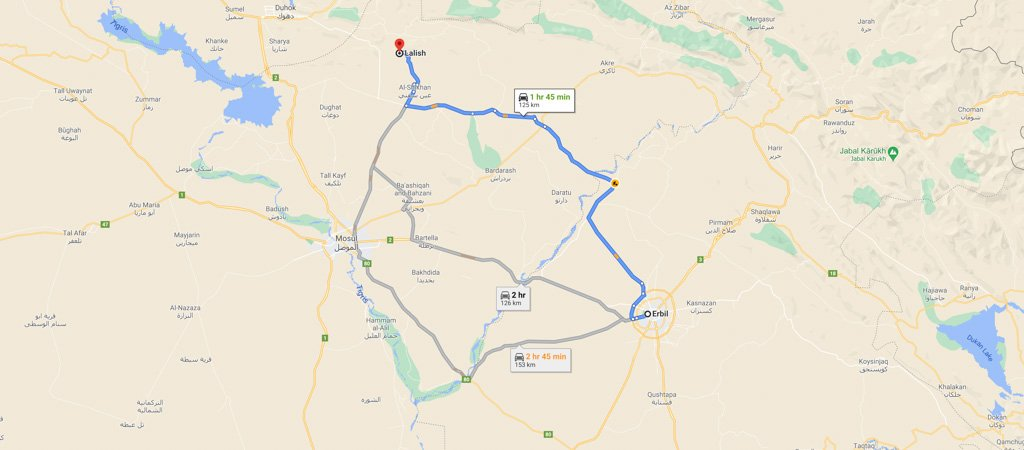 Lalish Map