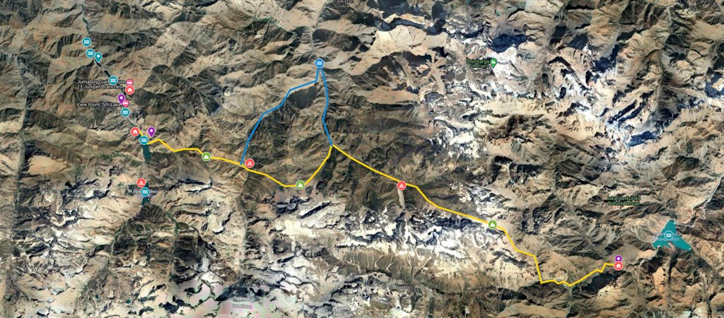 West-East Traverse from Haft Kul via Dukdon Pass Map