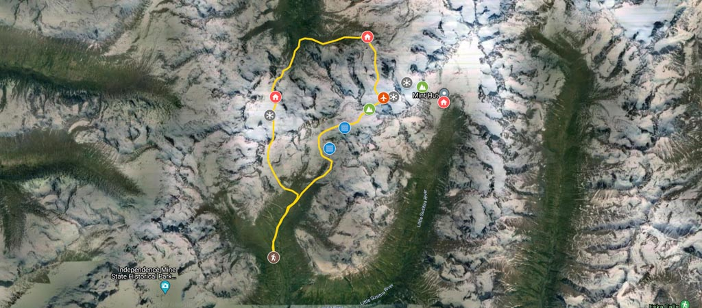 Snowbird-Bomber Traverse Map