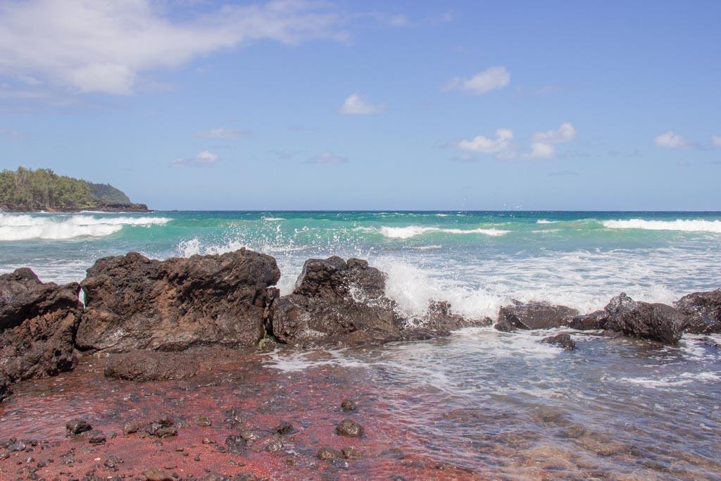 Koki, Koki Beach, red sand beach, red sand beach Hana, red sand beach Maui, road to Hana, Red Sand Beach, Koki Beach, Hana Highway, Maui, Hawaii