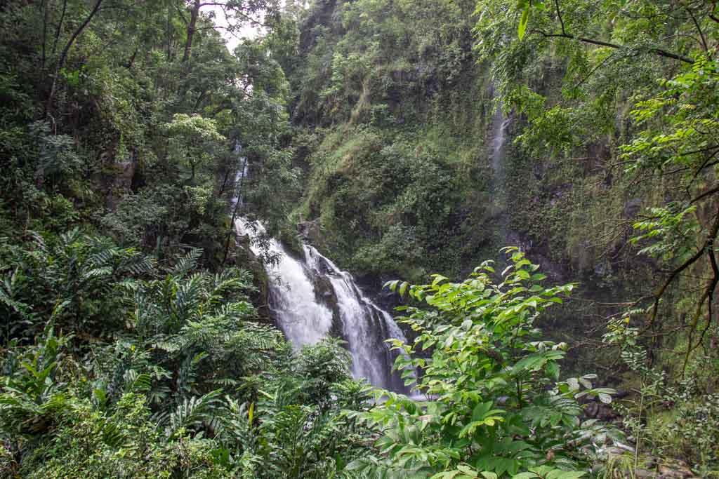 Upper Waikani Falls, Road to Hana, Hana Highway, Maui, Hawaii