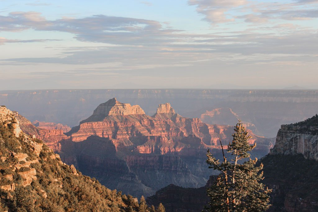 Bright Angel Point, Bright Angel Point sunset, Grand Canyon sunset, North Rim Campground, North Rim Grand Canyon, Arizona