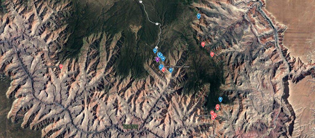 Grand Canyon North Rim Map