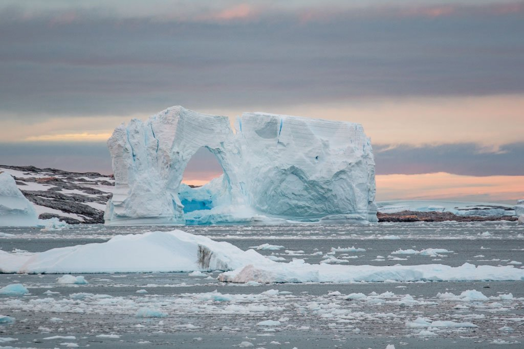 Ice Arch near Pleneau Island, Girard Bay, Lemaire Channel, Antarctica, Ice Arch, Ice berg