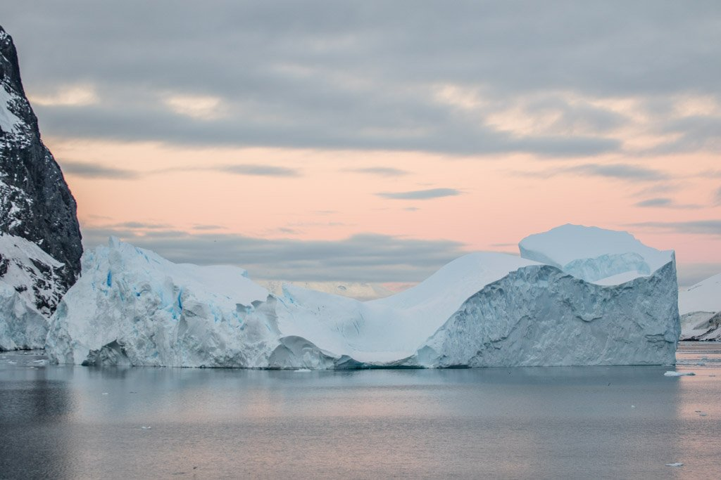 Iceberg in Lemaire Channel near Booth Island, Antarctica
