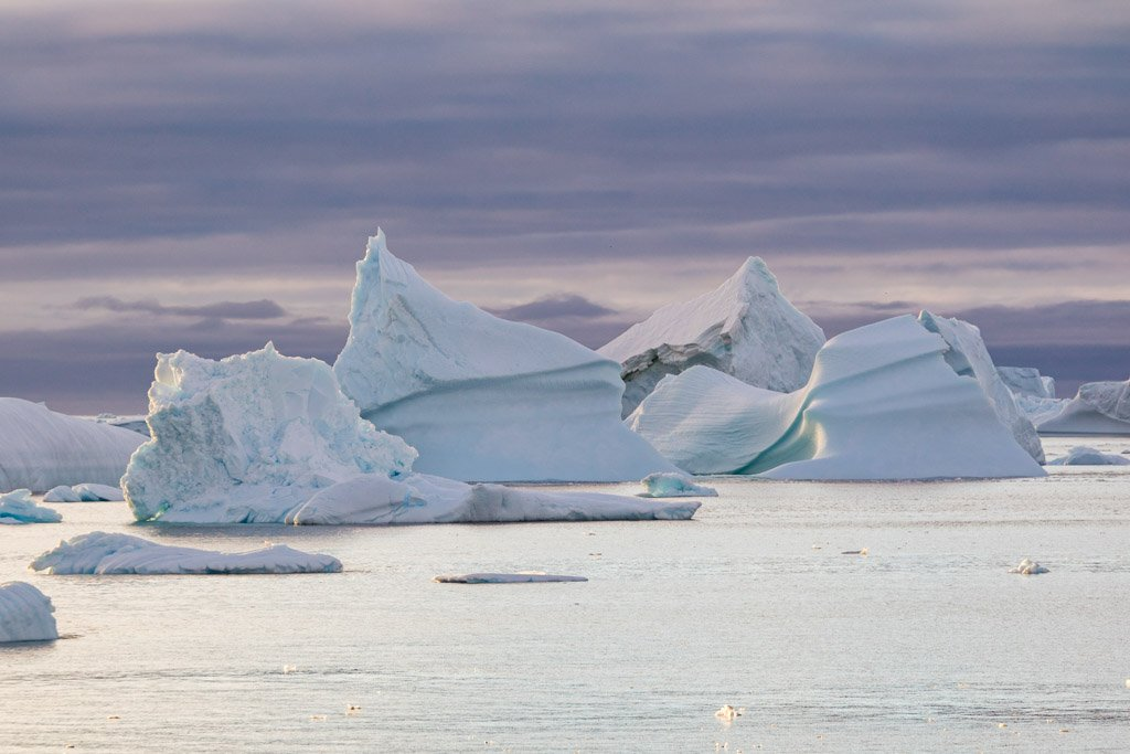 Icebergs, Girard Bay, Lemaire Channel, Antarctica