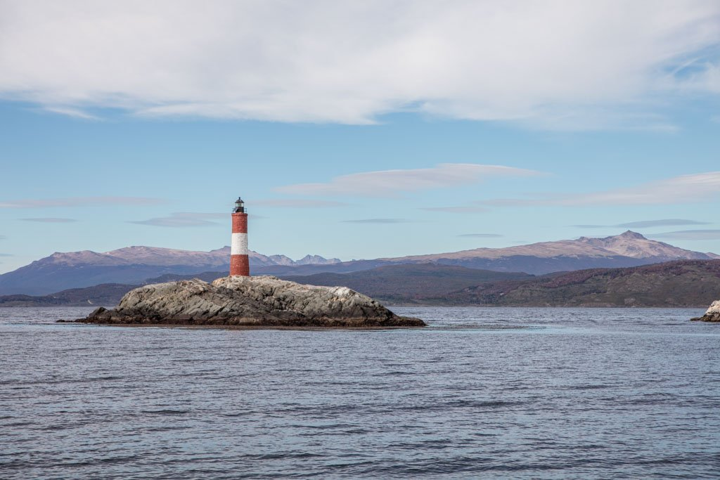 Les Eclaireurs Lighthouse, Ushuaia Bay, Beagle Channel, Tierra del Fuego, Argentina, South America