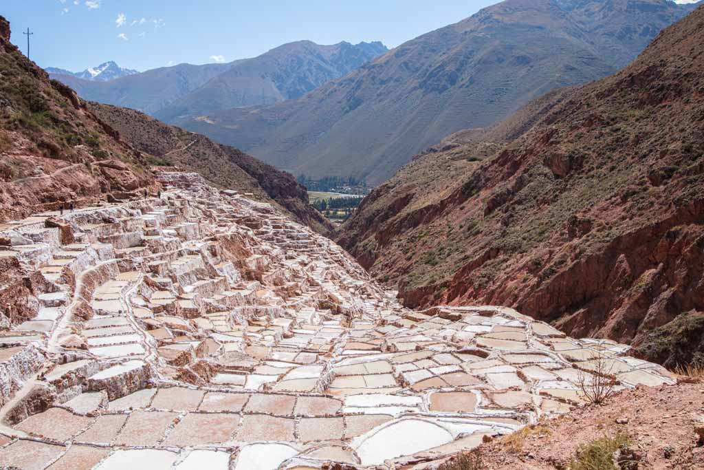 Maras, Maras Salt Mine, Sacred Valley, Peru, salt pond, salt pan, South America