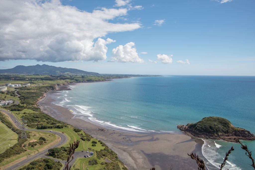 Paritutu Beach, Taranaki, New Zealand, New Plymouth, Snapper Rock, Motuotamatea