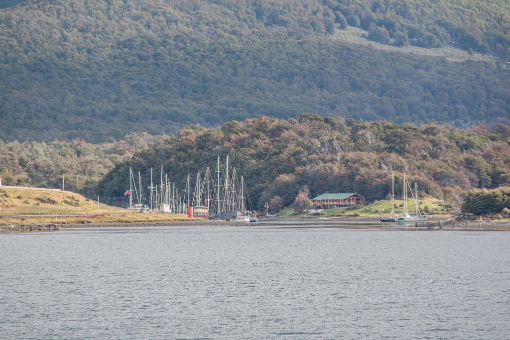 Puerto Williams Boat Harbor, Micalvi Yacht Club, Navarino Island, Chile, South America, Puerto Williams Yacht Club