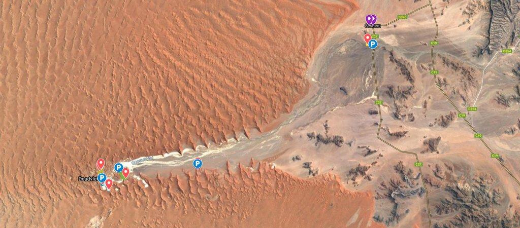Sossusvlei Namib-Naukluft National Park Map
